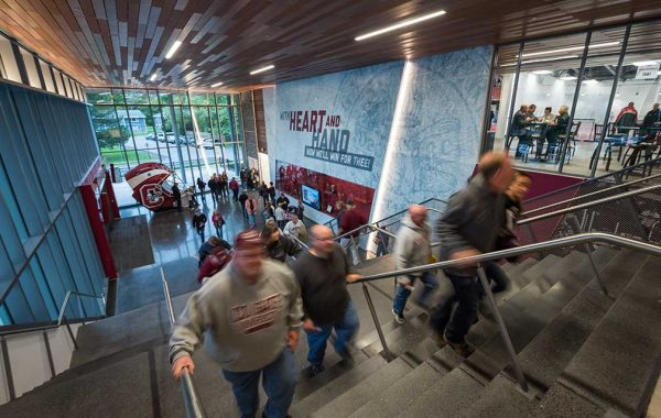 Colgate athletics environmental branding - homecoming