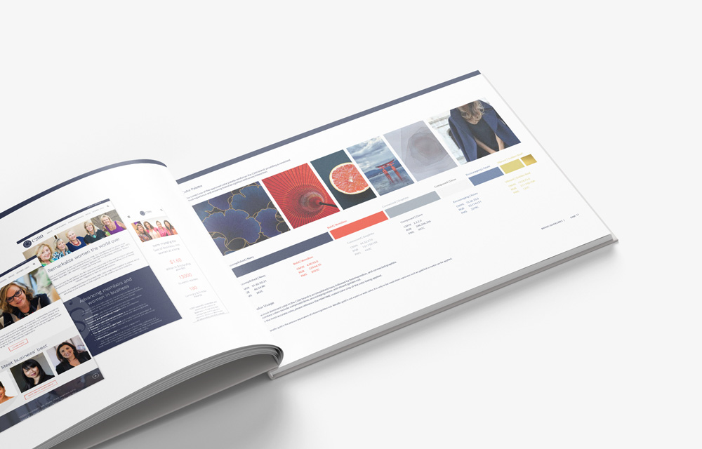 C200 brand book with color palette